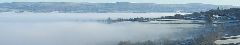 Low lying winter mist in the Tamar Valley