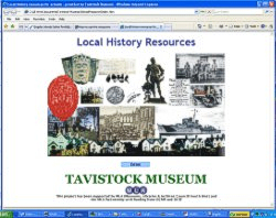 Interactive CD of Tavistock Musuem display panels created by Graphic Words - click here to see more