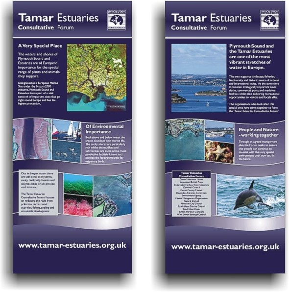 Pull-up display panels for the Tamar Estuaries Consultative Forum